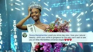 We test Miss SA Zozibini Tunzi's knowledge of pageant trivia!