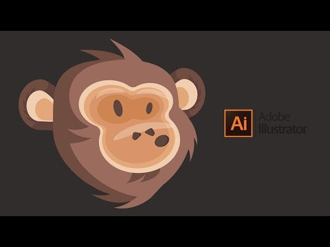 Flat Design Monkey Tutorial In Adobe Illustrator CC thumbnail