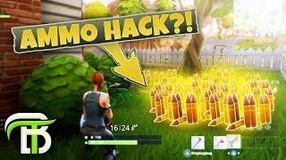 UNLIMITED AMMO HACK?! (Fortnite Battle Royale)