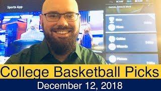 NCAAB Picks (12-12-18) | College Basketball CBB Expert Predictions | NCAAM | Men's NCAA