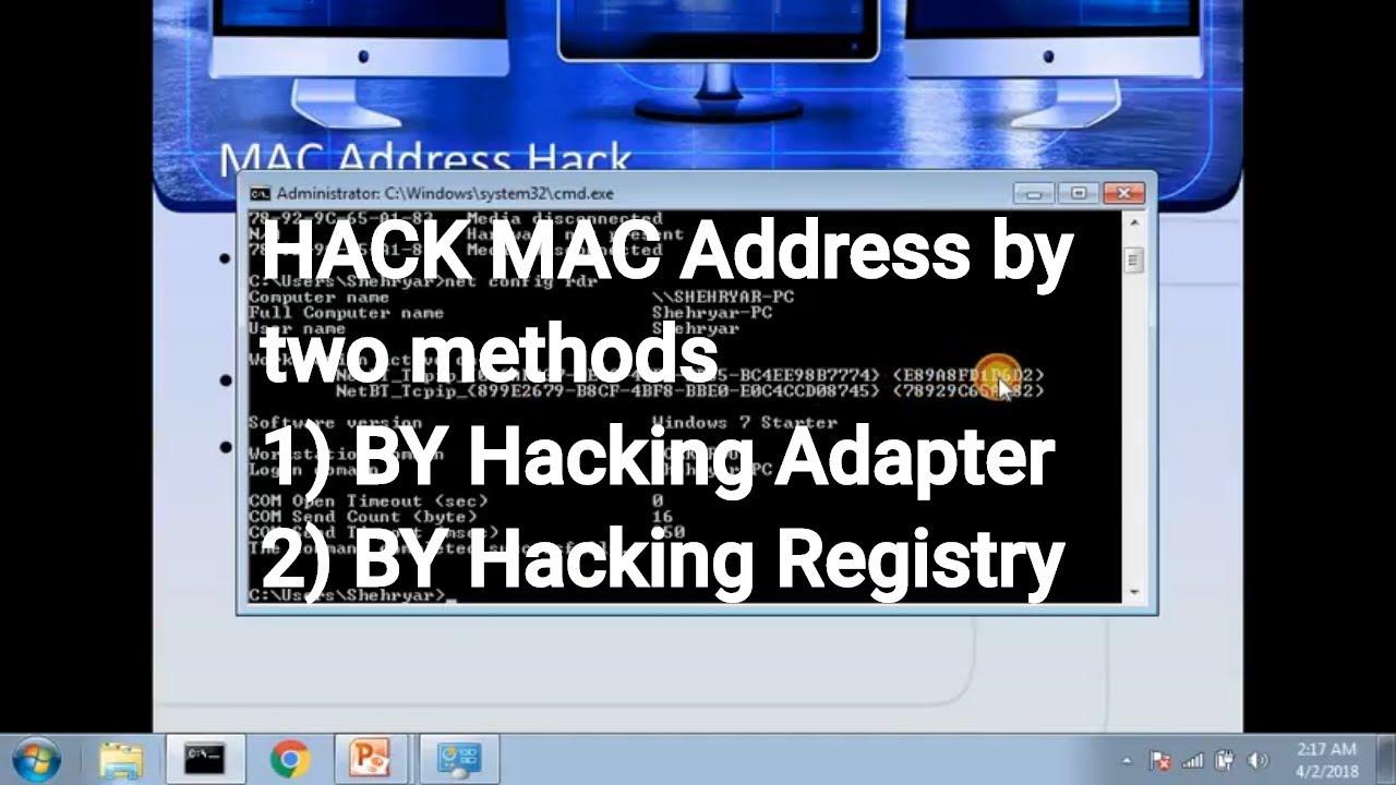 hack device using mac address