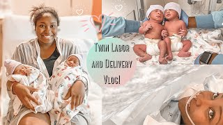 TWIN LABOR + DELIVERY VLOG