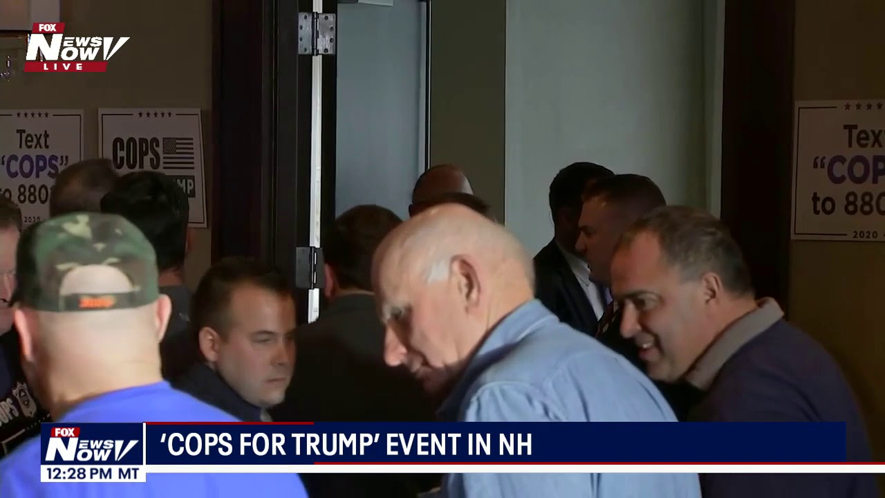 """PROTESTERS REMOVED: Chants erupt during """"Cops for Trump"""" event in NH - News Now"""