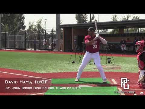 David Hays Prospect Video, OF 1b, St  John Bosco High School Class Of 2019