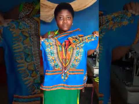 Seamstress making dashikis in Ghana