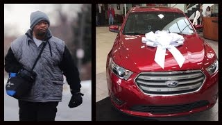 vuclip Detroit Walking Man James Robertson Gets New Car