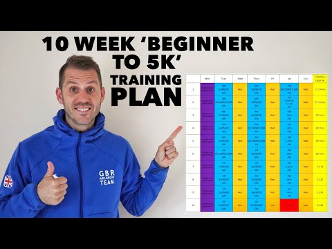 10 week 'beginner to 5k' training plan