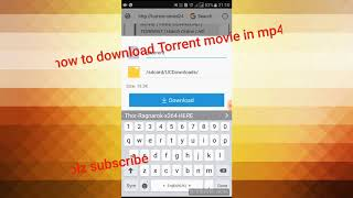 How to download Torrent movie in mp4 formate