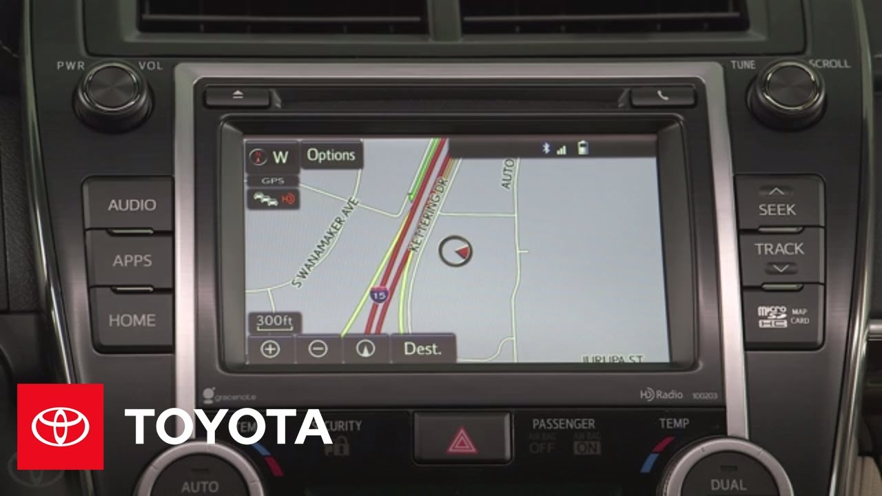 How to use the 2017 Toyota Camry's Navigation System