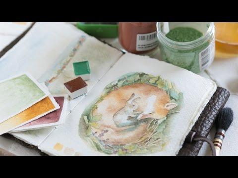 Creating Handmade Watercolors by Sea Mountain Co