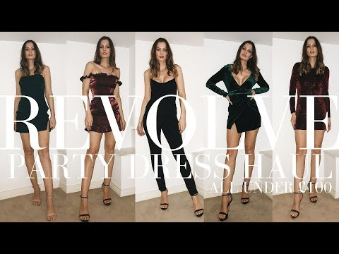 REVOLVE PARTY DRESS HAUL | ALL UNDER £100 | CHRISTMAS PARTY DRESSES | GEORGIETOMS