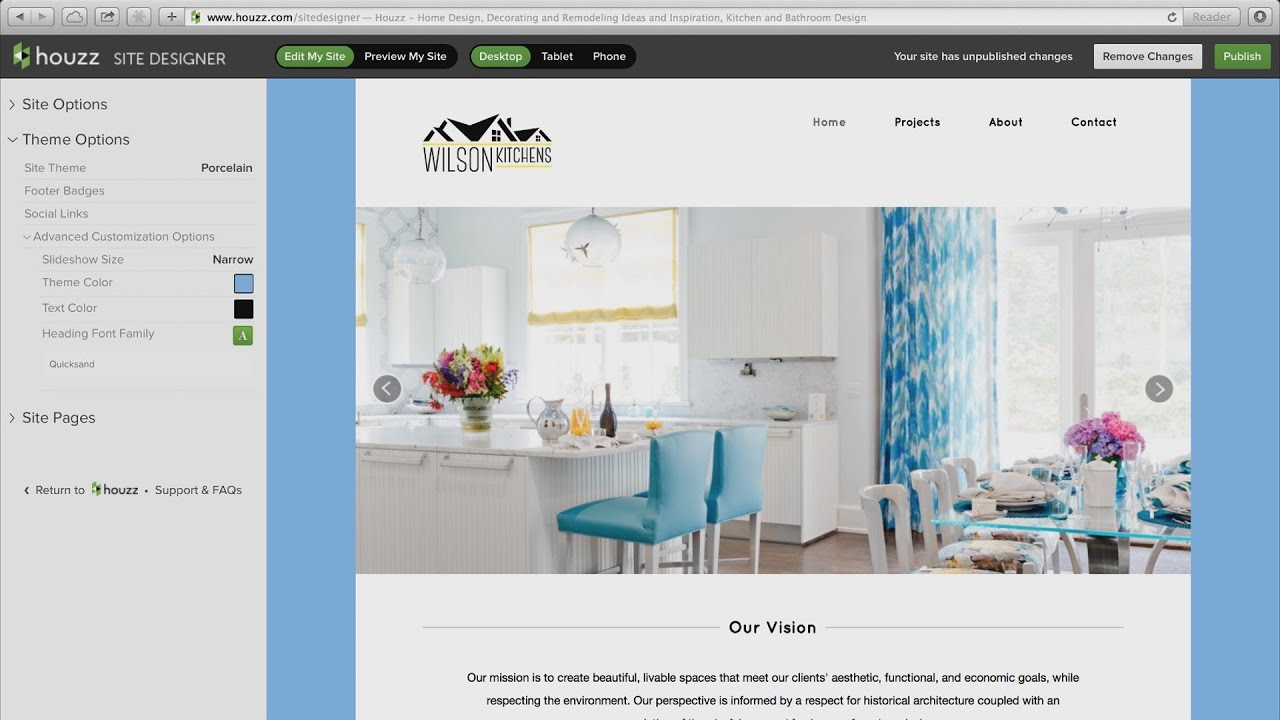 Site Designer for Houzz Professionals - YouTube