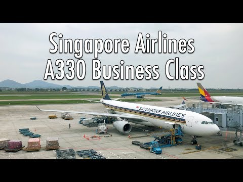 Singapore Airlines A330 Business Class SQ 176 Hanoi to Singapore