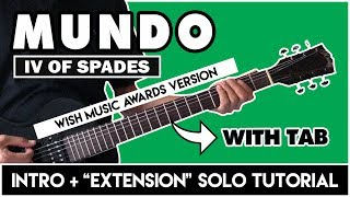 Mundo - Intro + Extended Solo Tutorial   Wish 107.5 4th Music Awards Version