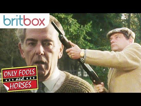 Del Boy Shows Off His Shooting Skills | Only Fools and Horses
