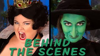 QUEEN OF HEARTS vs WICKED WITCH Behind the Scenes (Princess Rap Battle) *explicit*