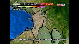 NTVL: Weather update as of 9:54 a.m. (February 18, 2018)