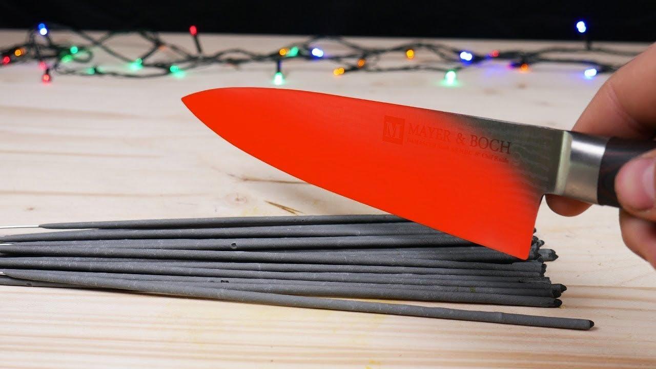 EXPERIMENT: SPARKLERS VS HOT KNIFE 1000 DEGREES