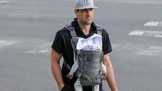 Pro Dancer Maksim Chmerkovskiy Carries Infant Son Shai