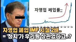 자영업자 폐업률 IMF 2배.. 경제 심각하다