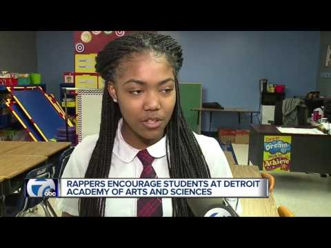 Rappers encourage students at Detroit academy of arts and sciences