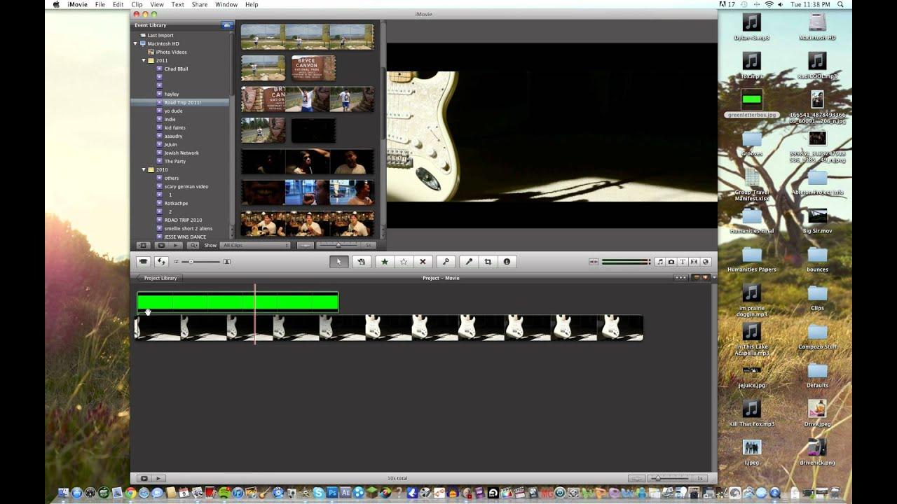 Updating imovie 09 to 11