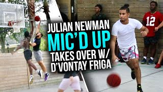 D1 & Former D3 Hooper TEAM UP With Julian Newman & Zion Harmon AT THE PARK! (Mic'd Up)