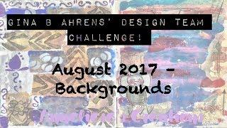 #gbahdesignteam كيفية: إنشاء الخلفيات باستخدام جينا ب أهرينس' Stams و الإستنسل آب / أغسطس عام 2017#gbahd