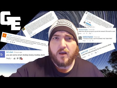 Atheist Responds to Flat Earth Proof Comments || Godless Engineer Comments