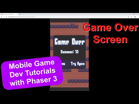 'Endless Cave' Ep. 18: Game Over Screen | Phaser 3 Game Dev Tutorial thumbnail