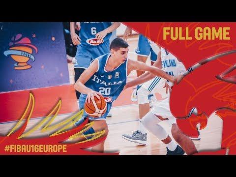 Finland v Italy - Full Game - Classification 9-16 - FIBA U16 European Championship 2017