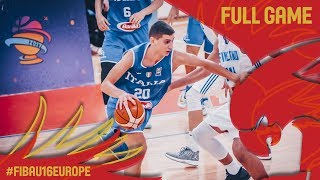 Finland v Italy - Full Game - Classification 9-16 - FIBA U16 European Championship 2017