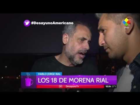 Morena celebró sus 18 años junto con su novio y Jorge Rial