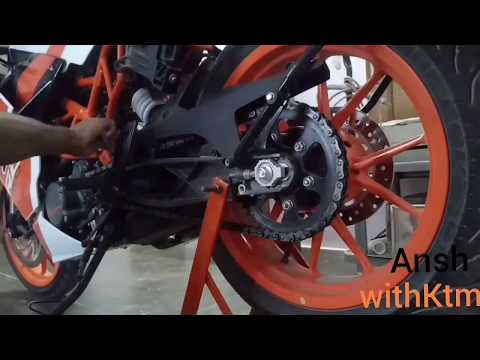 KTM RC 200 2018 ||Chain cleaning and lube best lubricant for ktm (lube for any bike)