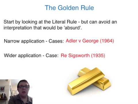 AS Law Lecture: Statutory Interpretation (1)