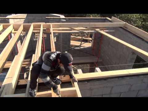 видео: Крыша , делаем перекрытие