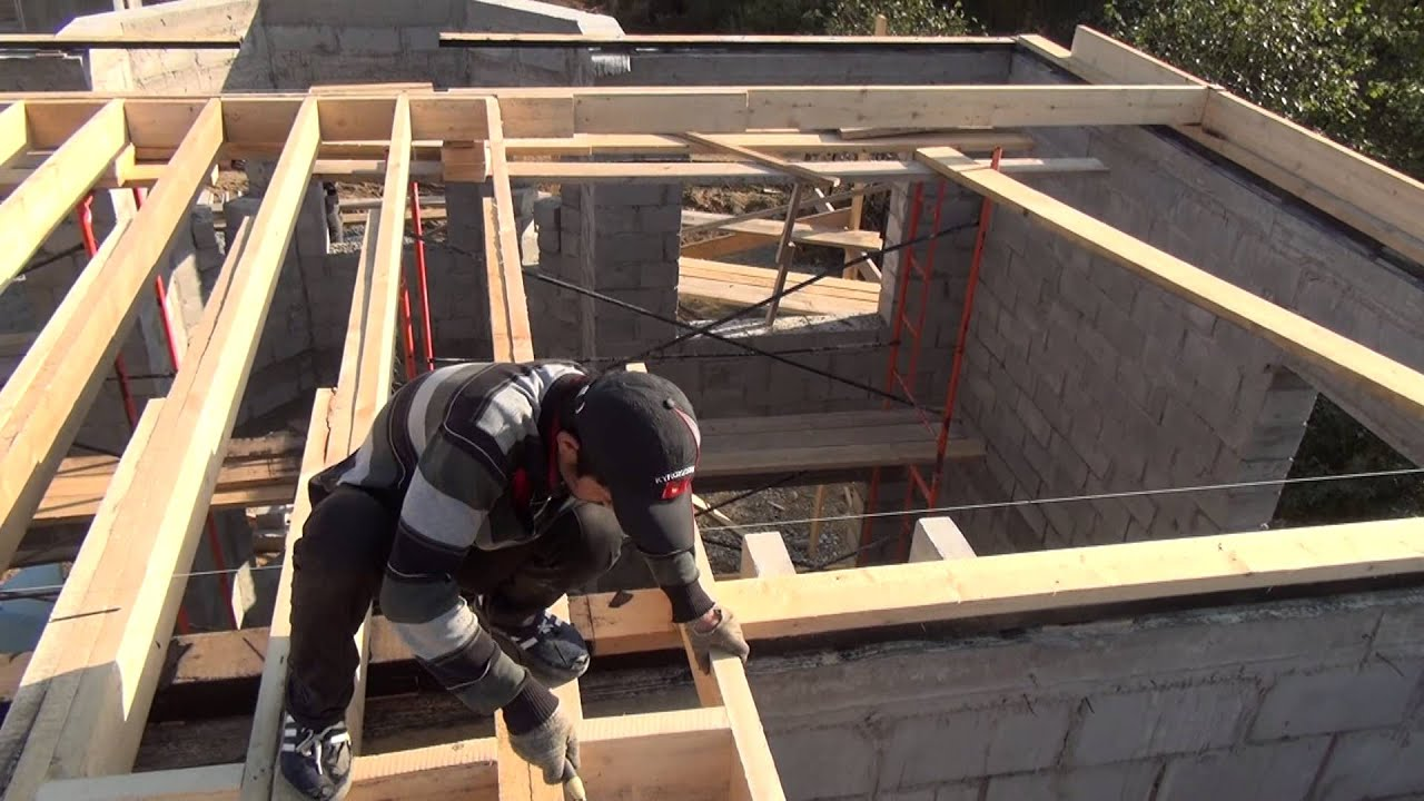 Крыша , делаем перекрытие - youtube.