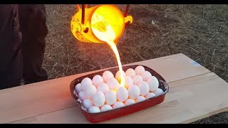 EXPERIMENT LAVA vs EGGS   Manyak DENEY) LAVA- YUMURTA