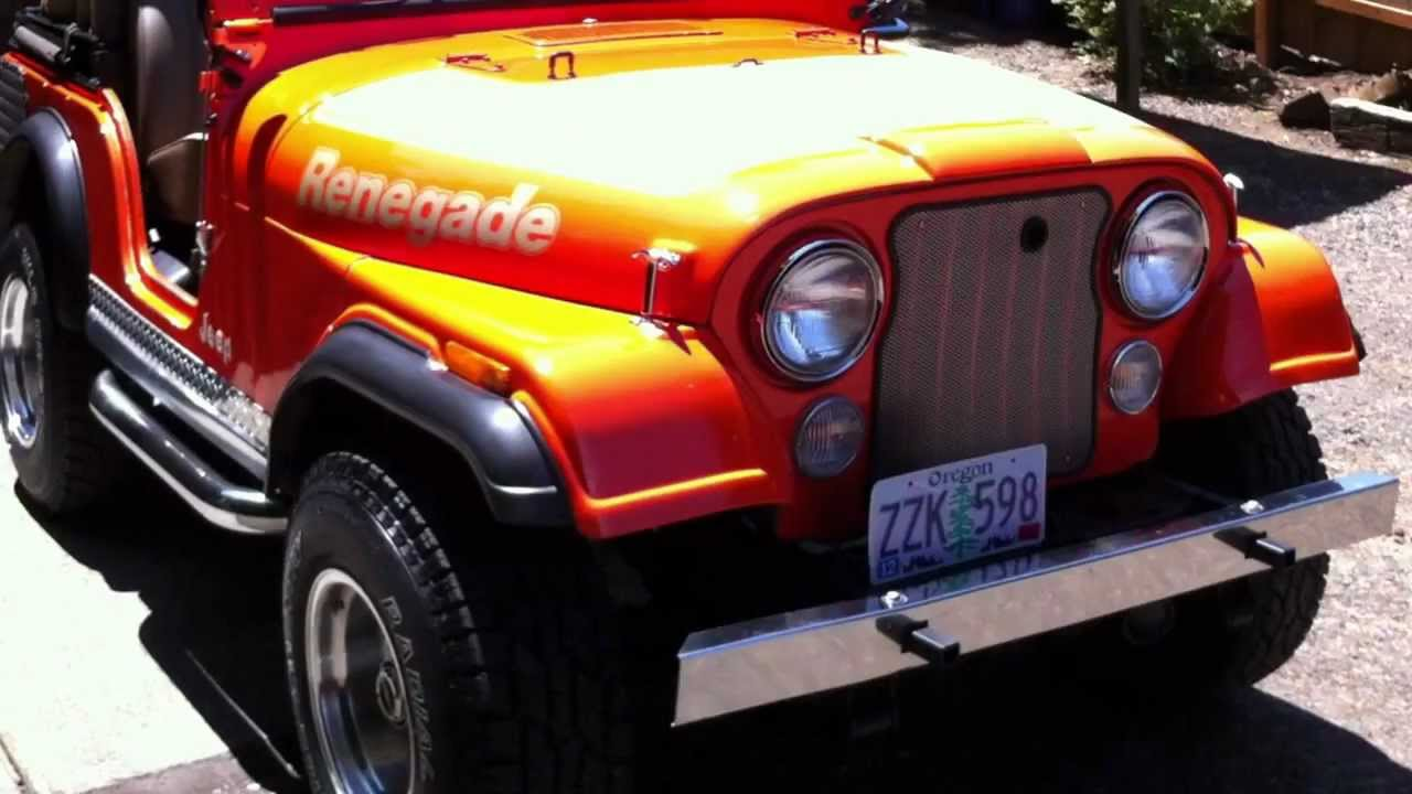 Jeep Renegade For Sale >> 1978 Jeep CJ-5 Renegade Levi Edition 304 V-8 For Sale - YouTube
