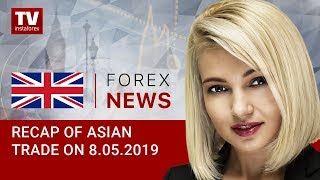 InstaForex tv news: 08.05.2019:  JPY soaring amid risk aversion sentiment (AUD, USD, USDX, JPY)