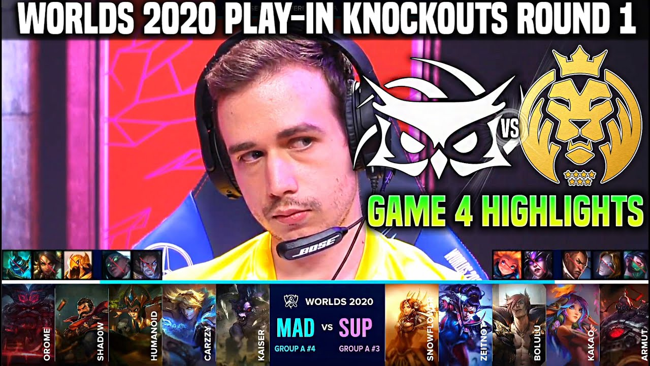 SUP vs MAD Game 4 Highlights Worlds 2020 Play In Knockouts R1 - SuperMassive vs MAD Lions Game 4