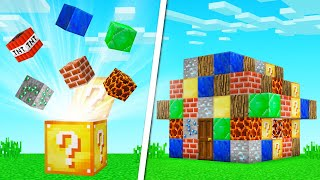 BUILD CHALLENGE Only Using LUCKY BLOCKS! (Minecraft)