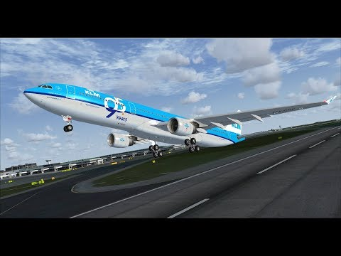 FSX | IVAO | Amsterdam - Aruba | KLM Airbus A330-300 [GER |
