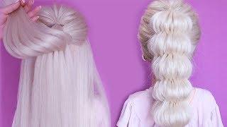 Объёмная коса из резинок Красивые Прически пошагово Косы без плетения