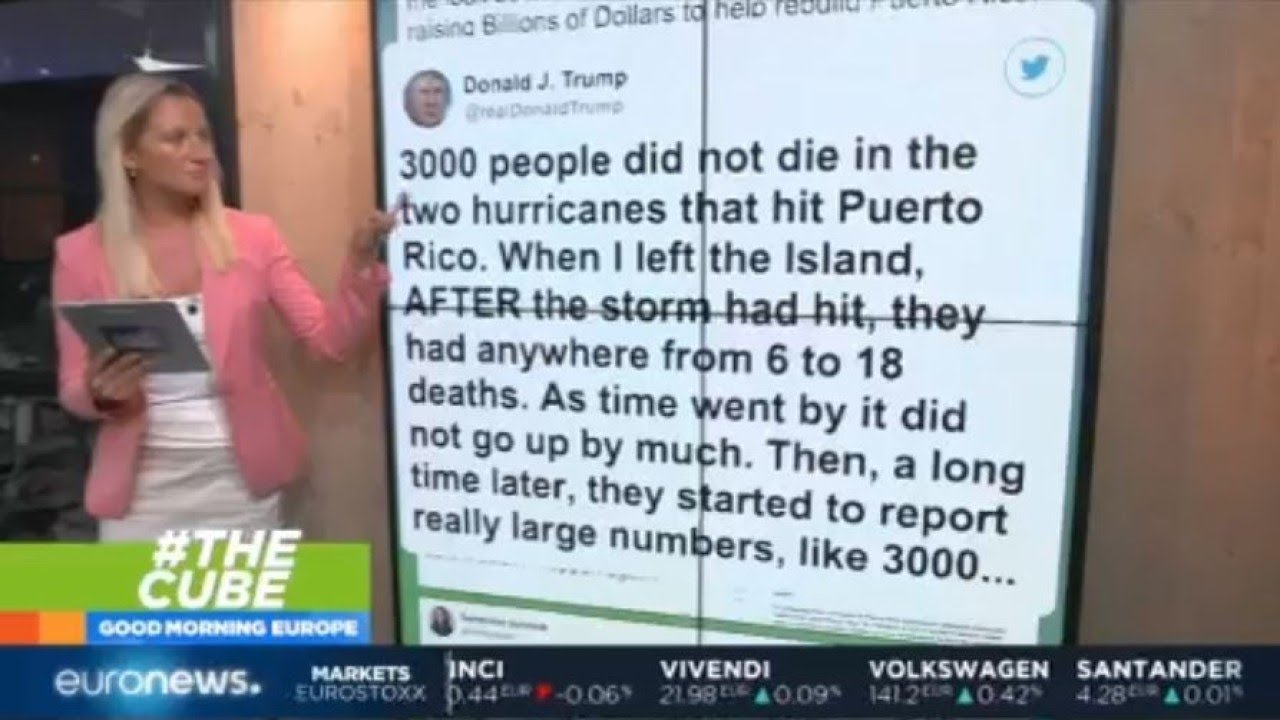 #TheCube | Trump disputes Hurricane Maria death toll in Puerto Rico