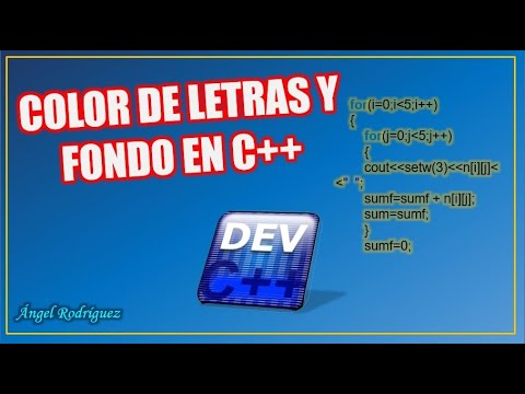 DEV C++ - Cambiar el color de letras y fondo
