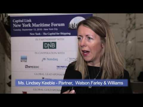 2016 New York Maritime Forum - Interview with Ms. Lindsey Keeble