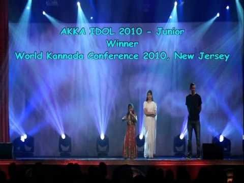 Saanika - AKKA Idol 2010 Winner - Poojisalende Hoogala Tande - Eradu Kanasu (Kannada) @ WKC 2010