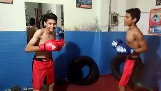 Boys Boxing sparing sesson