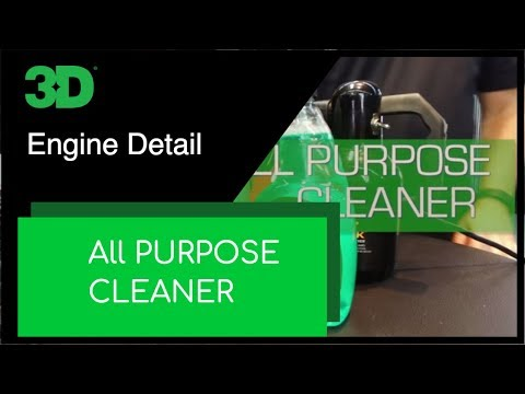 An overview of 3D Products All Purpose Cleaner. This is an all around degreaser.